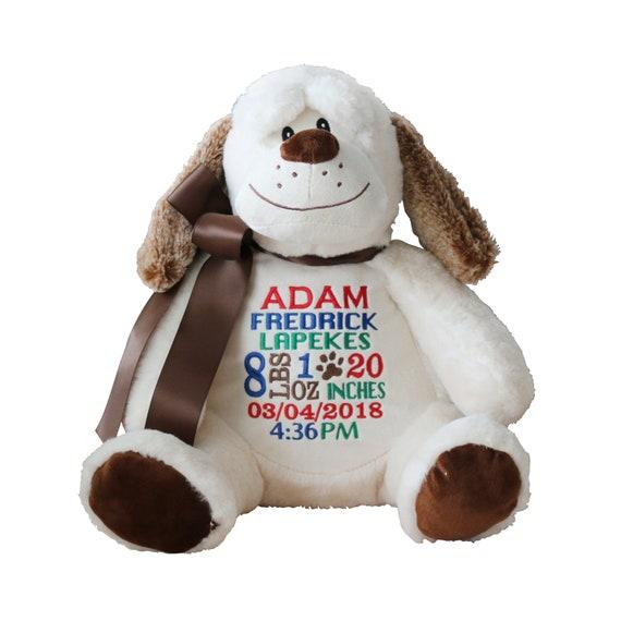 Personalized Dog Stuffed Animal Custom Embroidery Embroider Buddy Gift