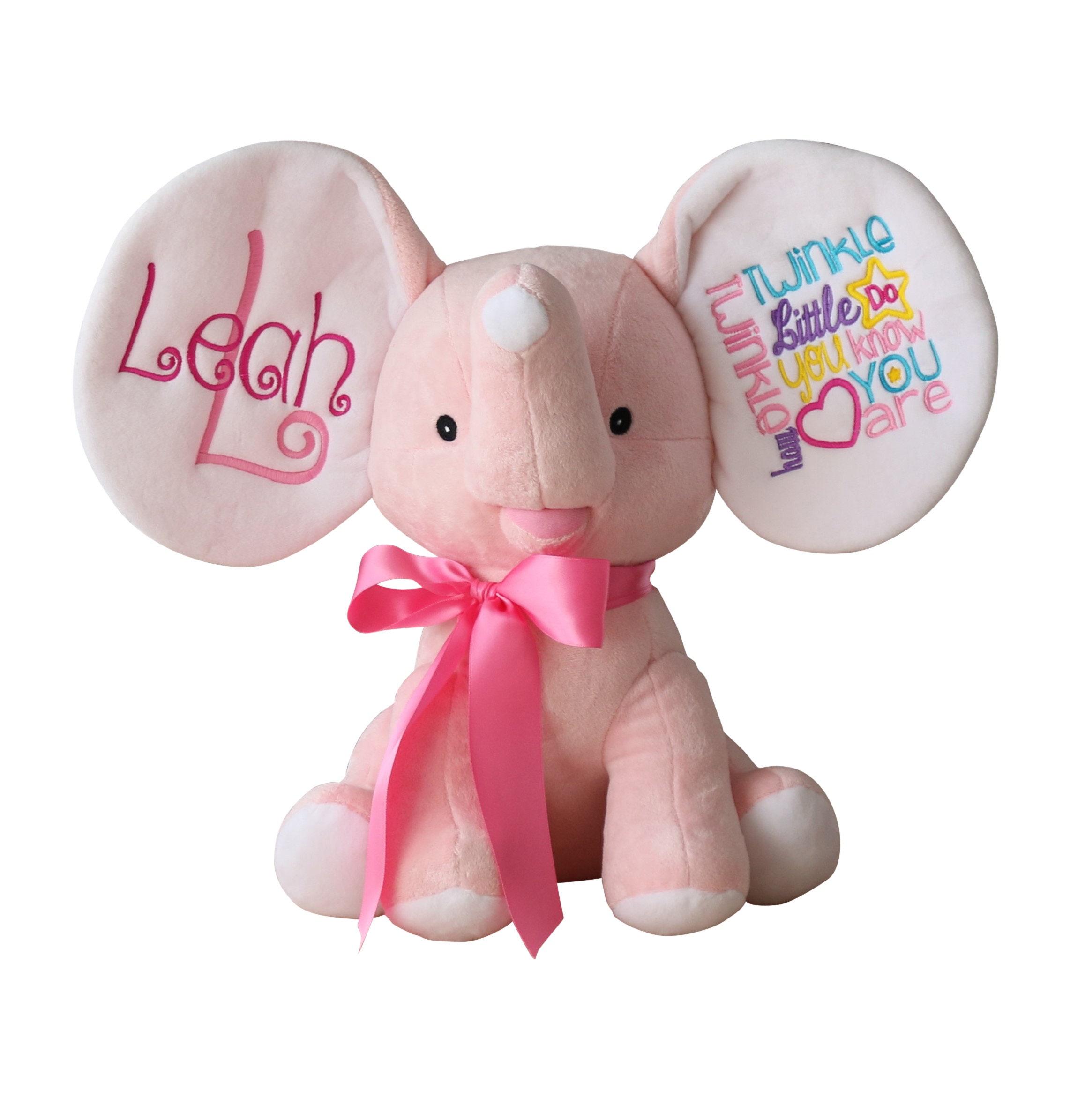 Personalized Stuffed Animal Elephant Elephant Stuffed Etsy