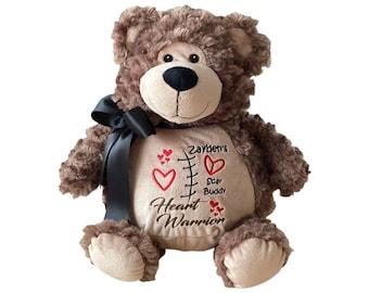 CHD Heart Warrior Bear, Heart Surgery Gift, CHD Gift for Baby, Personalized Bear, CHD Hero Bear, Chd Stuffed Animal