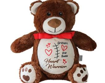 CHD bear, Warrior Bear, Heart Surgery Bear, Personalized Heart Warrior Gift