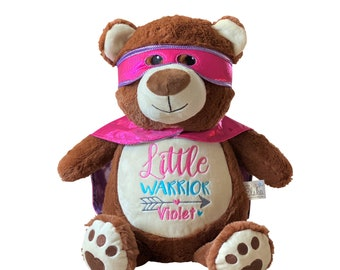 CHD Heart Warrior Bear, Heart Surgery Bear, Heart Awareness Bear, CHD Hero Bear, Personalized Heart Warrior Bear, CHD Gift