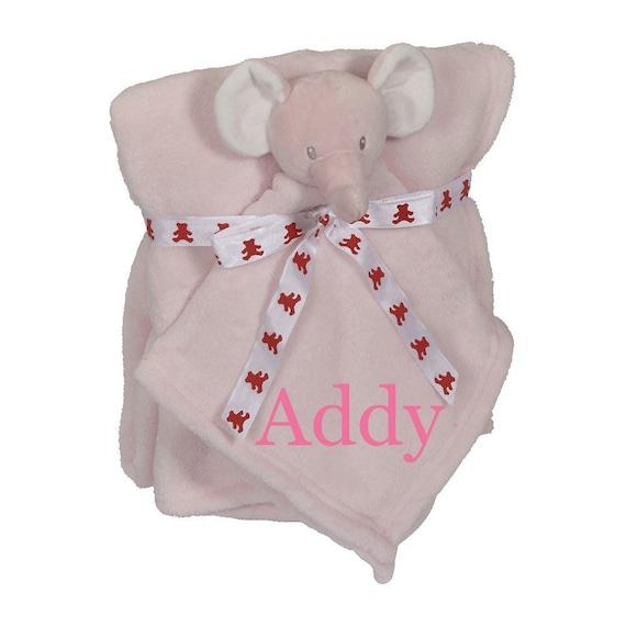 Personalised Elephant Baby Blanket Custom Animal Baby Gifts New Baby