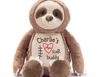 Heart Bear, CHD Gift, Teddy Bear Stuffed Animal, Heart Surgery Bear, Personalized CHD Bear, Scar Buddy, Child CHD Bear