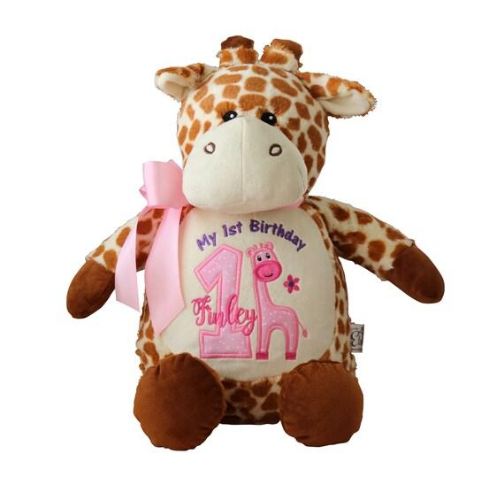 Giraffe Stuffed Animal Baby Girl Birthday Gift Personalized Etsy
