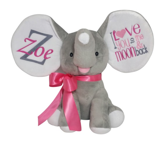 Personalized Stuffed Animal Dumble Elephant I Love You To The Etsy