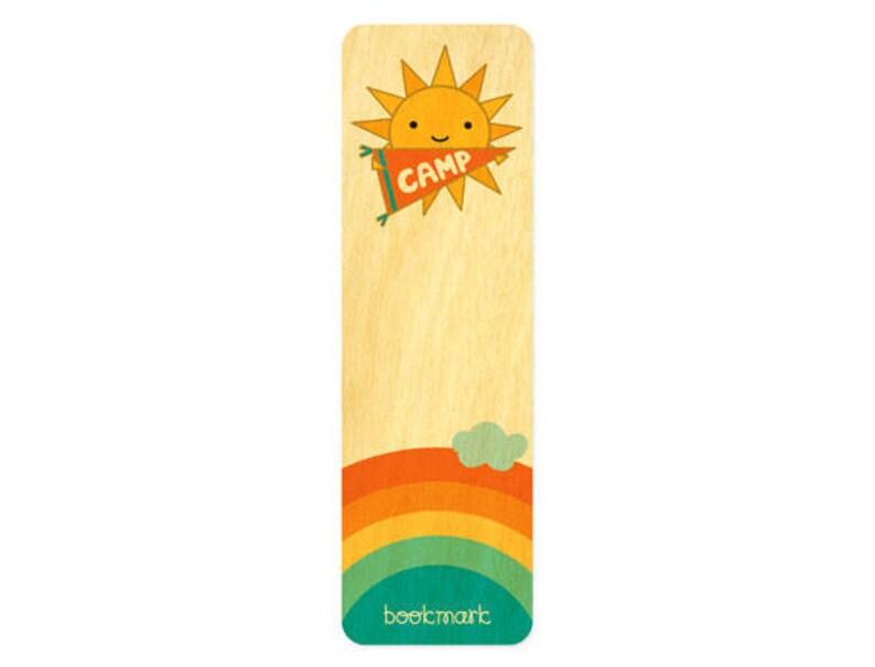 Birch Night Owl Paper Goods Alligator Real Wood Bookmark