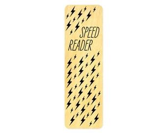 Speed Reader - Real Wood Bookmark - Book Lover - Fast Reader - Avid Reader - WM2137