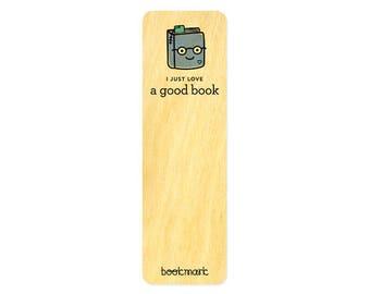 Good Book - Real Wood Bookmark - Book Lover - Avid Reader - WM2133