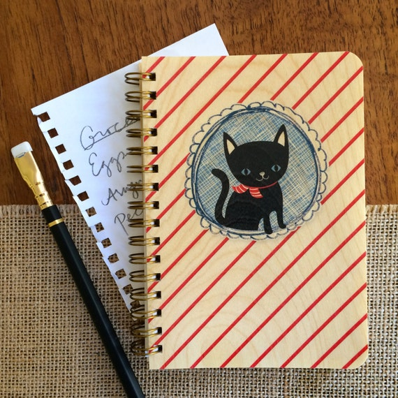 Nauti Cat Pocket-Sized Notebook from Night Owl Paper Goods on Etsy