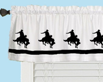 Custom Made In Your Choice of Colors Horseshoe Lucky Horse Shoe Window Valance Window Treatment