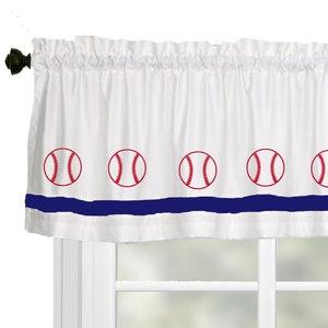 Your Choice of Colors Baseball Player Window ValanceWindow Treatment