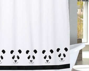 Panda Bear Shower Curtain In Your Choice Of Colors