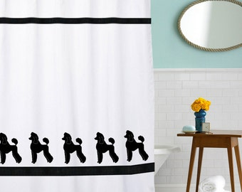 Poodle Dog Shower Curtain
