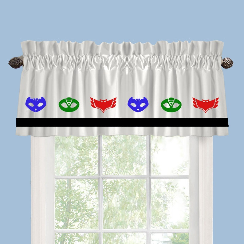 PJ Masks Inspired Window Valance Curtain Your Choice Of