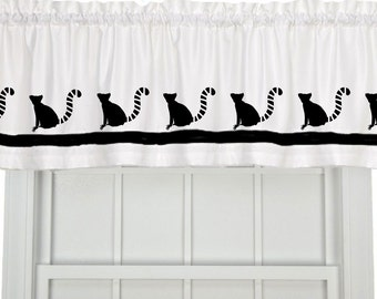 Lemur (Ringtailed or Ruffed) Window Valance Window Treatment - Your Choice of Colors