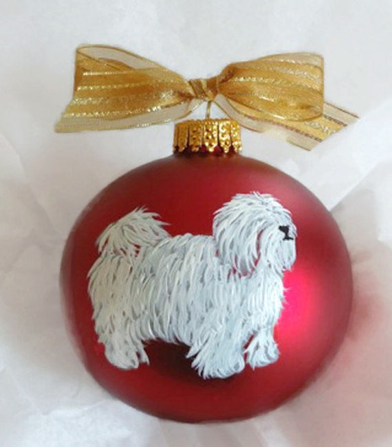 Coton De Tulear Dog Hand Painted Not Digital Glass Ball Etsy