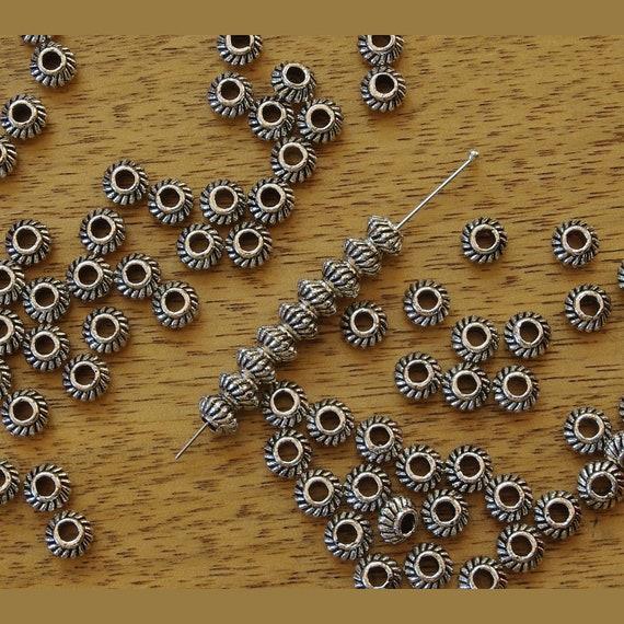 35 6mm Antique Goldtone Spacer//Choker Beads