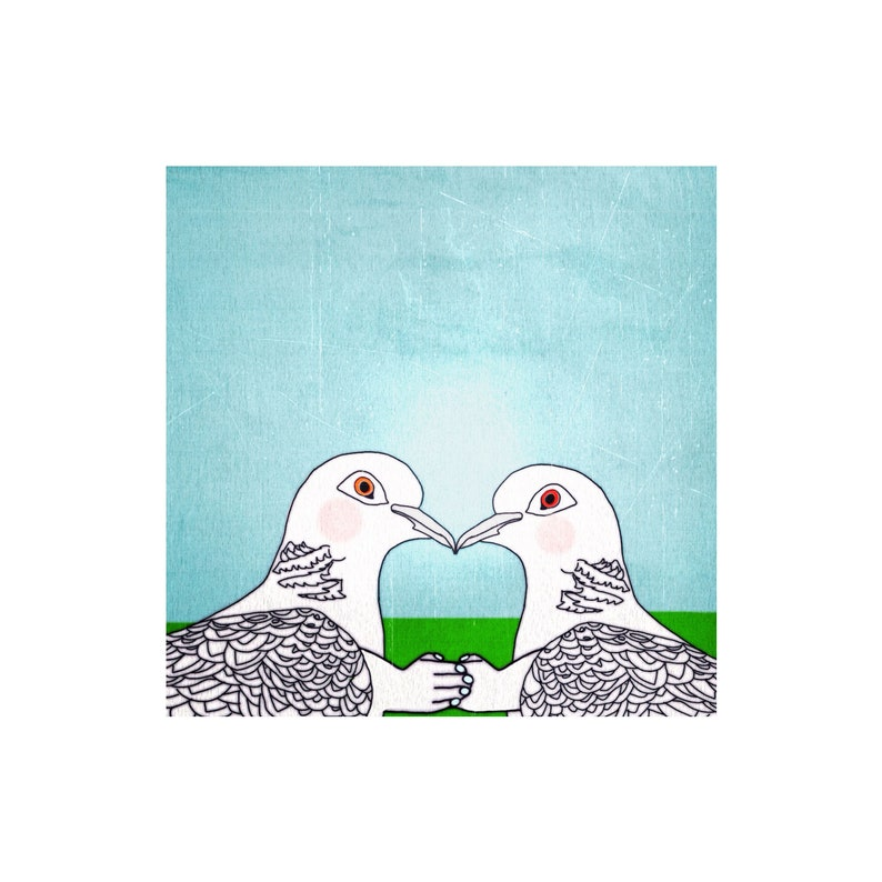 Good Old Traditional Tit for Tat fine art print featuring two image 0