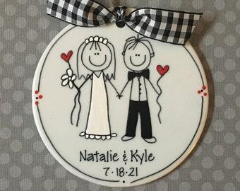 Wedding Stick Figure/Wedding Gift/Married/Gift for Wedding/Bride and Groom/Personalized Wedding Gift
