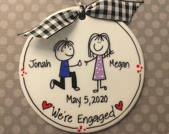 Engagement Personalized Ornament/Proposal Ornament