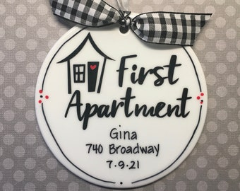 First Apartment Personalized Ornament