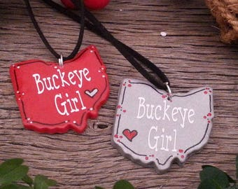 Ohio Buckeye Girl Necklace