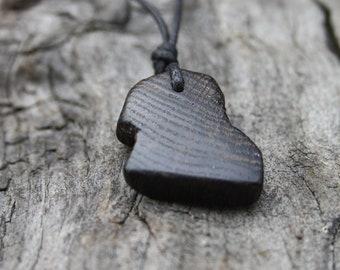 5000 Year Old Irish Bog Oak Necklace, Black Oak Wooden Pendant, Unique Bog Wood Jewelry For Men, Ancestry Gift Handmade In Ireland