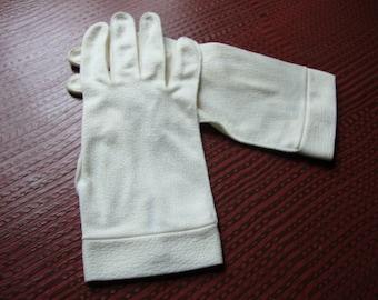 vintage cream gloves