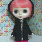 Custom Black Zip Hoodie for Gertie
