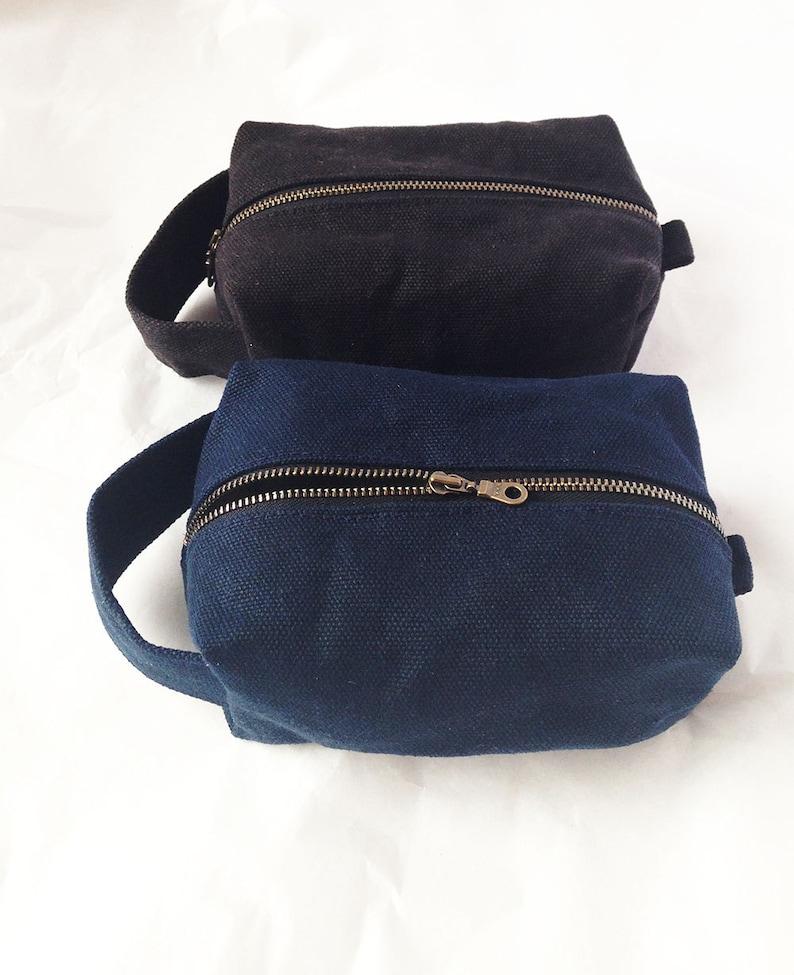 1325ba6877 Waxed Toiletry Bag. Waxed Canvas Dopp Kit. Mens Toiletry Bag