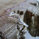 Wave - hammered wave ring in sterling, oxidized sterling or gold fill - made to order