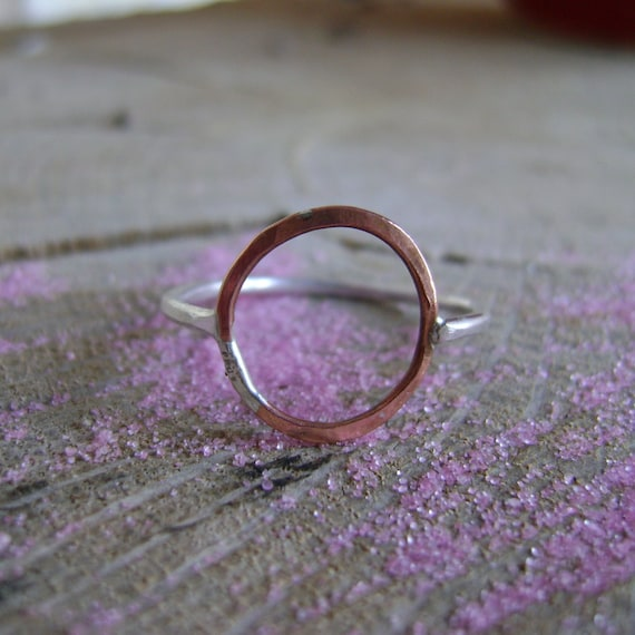 Symmetry - open circle ring in choice of metals - made to order