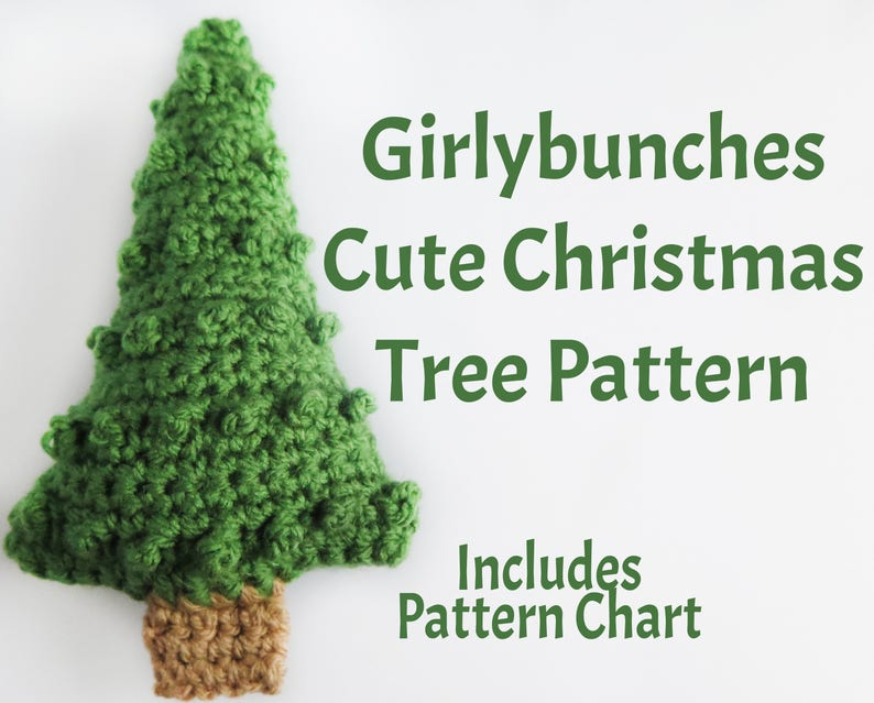 Girlybunches Cute Crochet Christmas Tree Written Pattern And Etsy