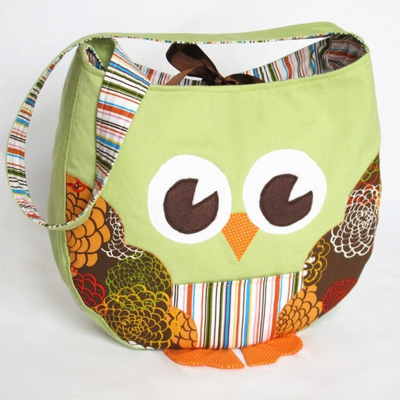 Funky Little Owl Bag Immediate Download Of Pdf Sewing Etsy