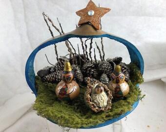 Nativity set gourds