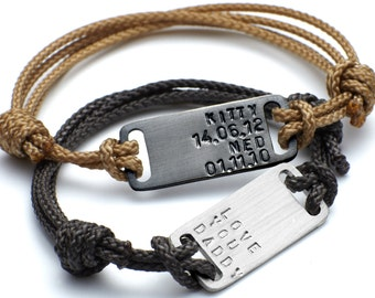 Men's Identity Plate Bracelet|Men's Personalized Bracelet|Gift for daddy|gift for dad|date bracelet|dad jewellery|father's day gift