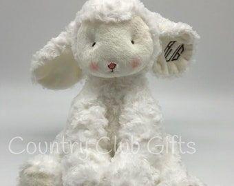 Personalized  Lamb | baby shower gift | stuffed animal | Easter Basket | baby boy gift | baby girl gift | embroidered Lamb | Monogram