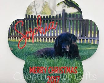 Personalized Christmas Ornament - Puppy, Dog, paw, new puppy,  pet, Paw Christmas ornament