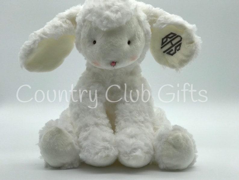 Personalized  Lamb  baby shower gift  stuffed animal  image 0
