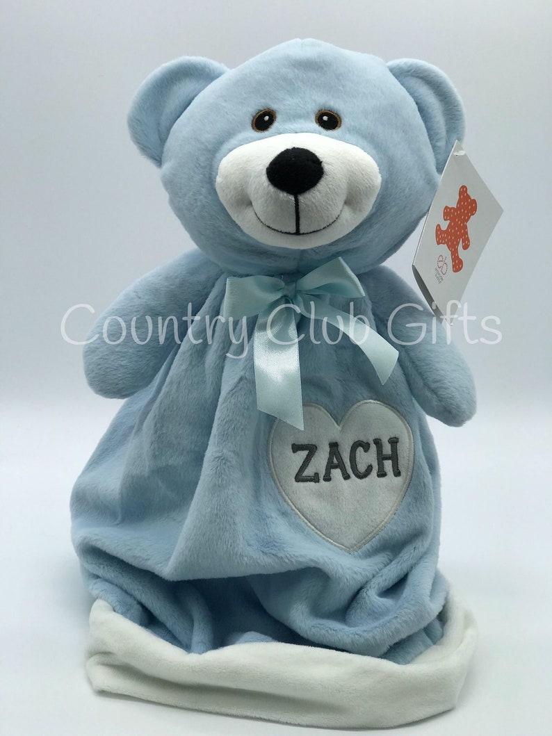 personalized blanket  Teddy Bear  baby girl gift  baby boy image 0