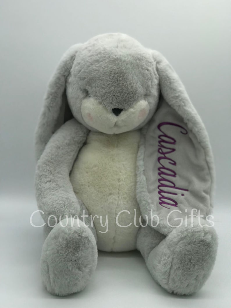 LARGE Personalized  bunny  baby shower gift  stuffed animal image 0