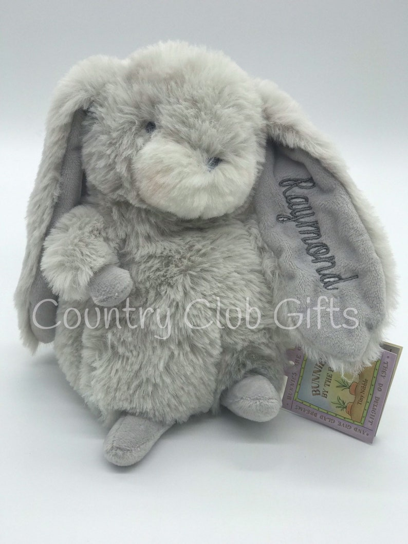 Personalized bunny  baby shower gift  stuffed bunny  image 0