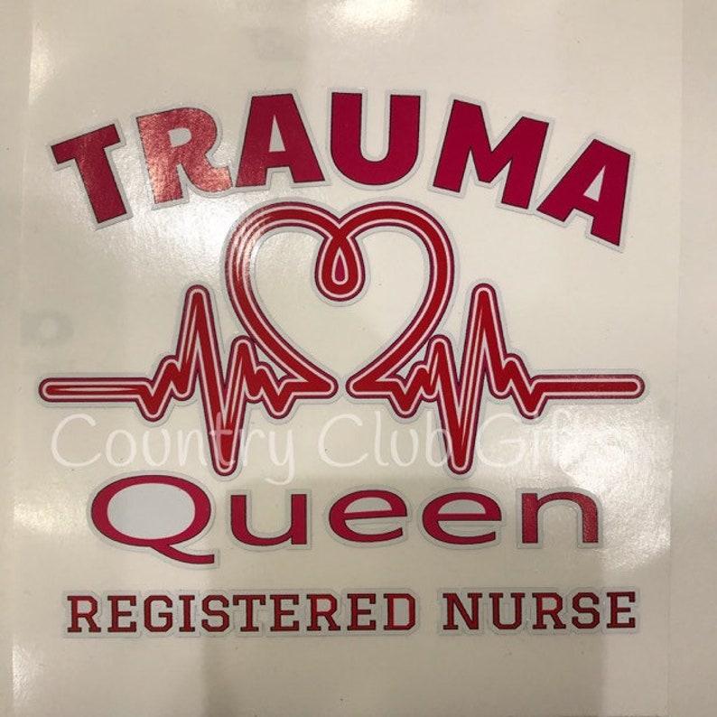 Nurse Decal  Nurse  scrubs decal  registered nurse  trauma image 0