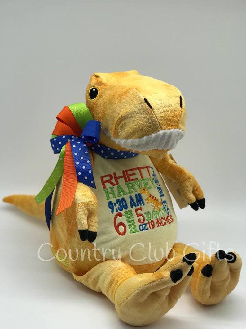 Personalized Stuffed Animal  Personalized baby gift  birth image 0