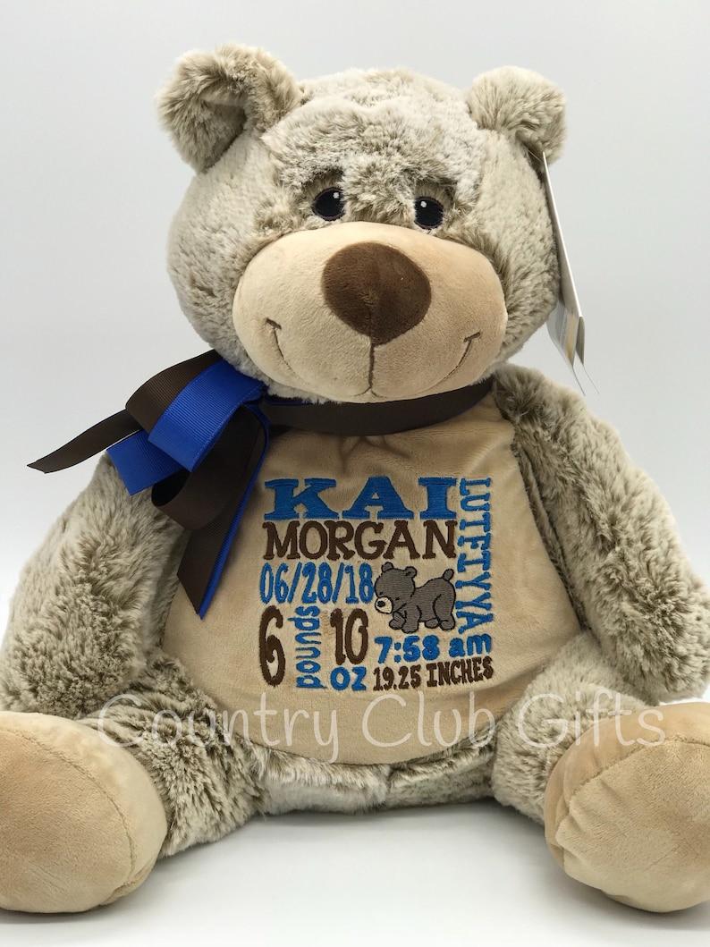 personalized stuffed animalgiftbaby giftkeepsake Bearbaby image 0