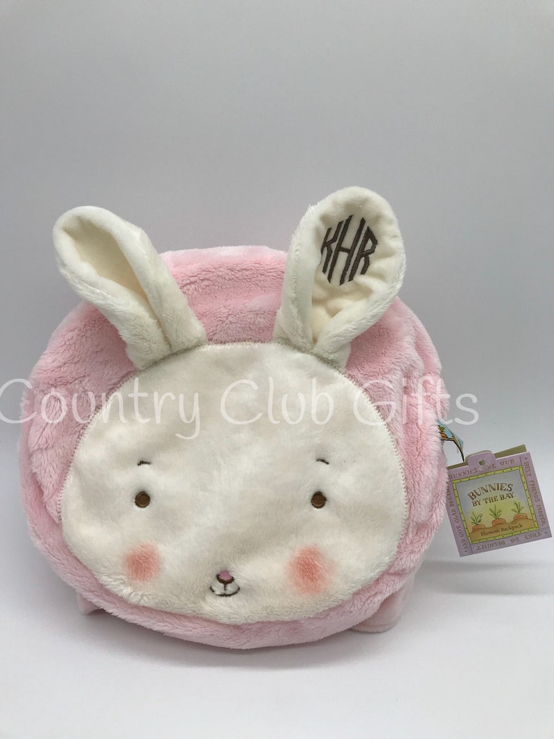Personalized backpack  Bunny backpack  Embroidered bunny  image 0