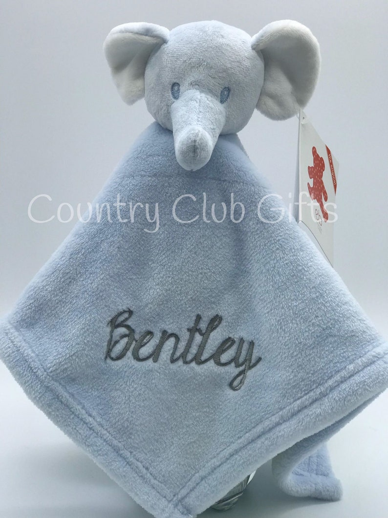 personalized baby gift  personalized baby blanket  Elephant image 0