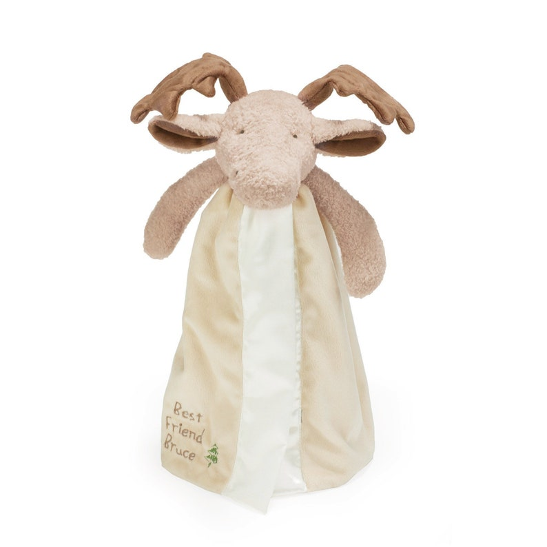 Personalized Moose  Security Blanket  Embroidered moose  image 0