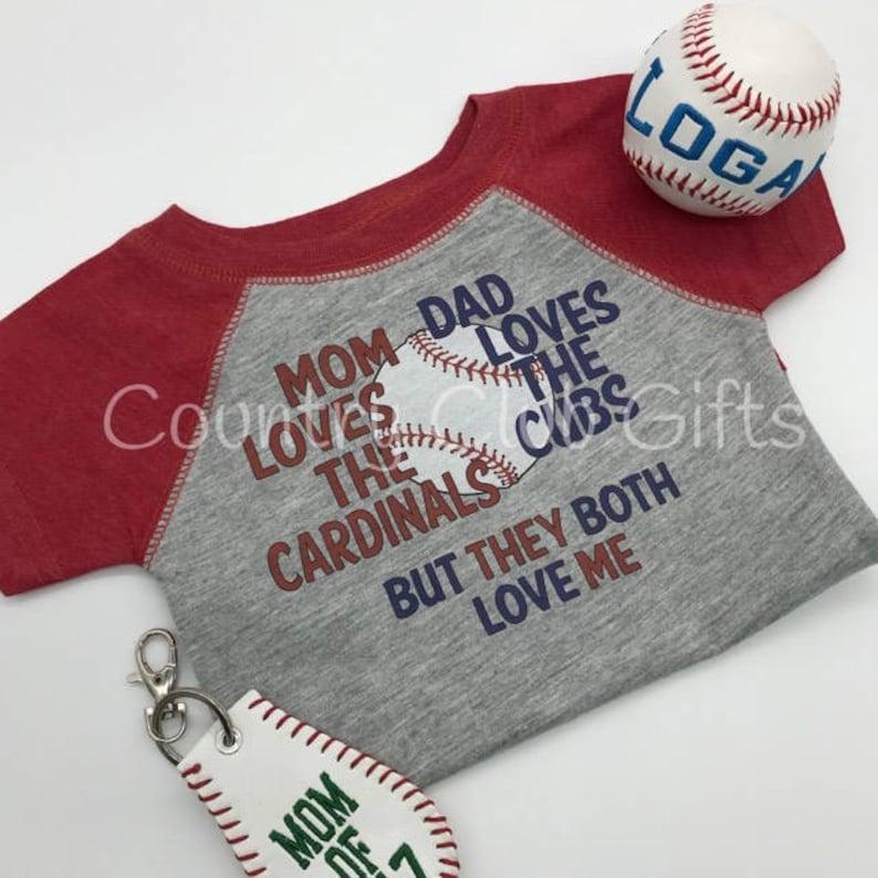 House Divided Cardinals Cubs t shirt baseball shirt. image 0