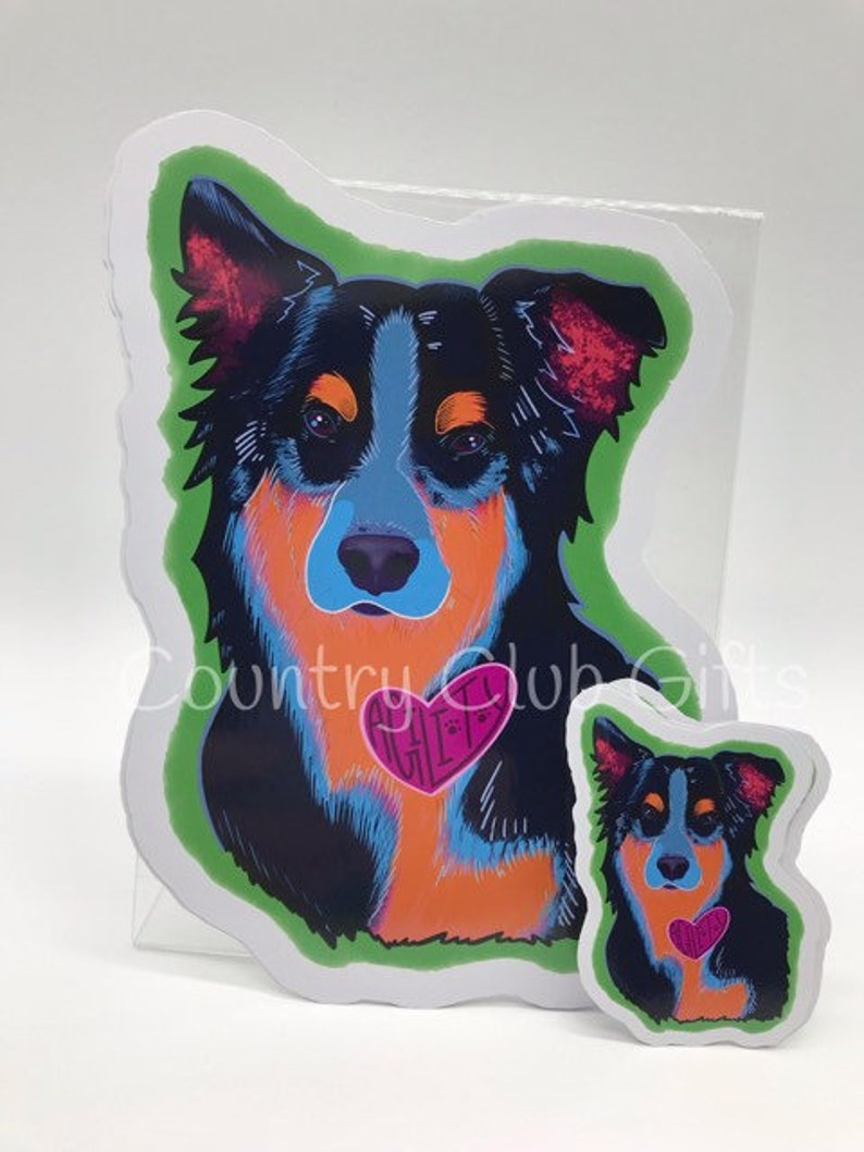 Australian Shepherd Aussie Car Decal  Full Color Car Decal  image 0